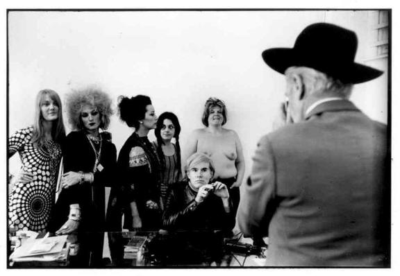 Cecil Beaton photographs the Warhol crowd in the Factory, April 24, 1969